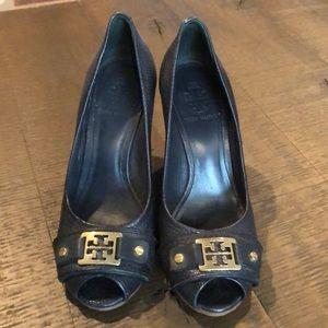 Tory Burch cork wedge heels - size 6M